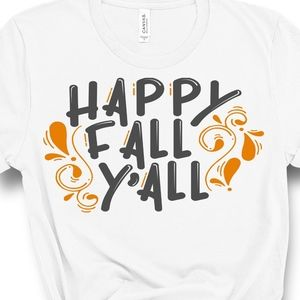 Tops - New Happy Fall Y'all White Tee